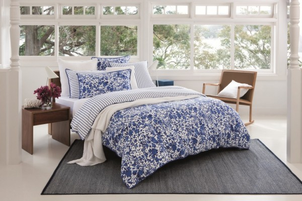 Saskia French Blue Duvet Cover and Pillowcases by Sheridan
