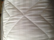 Caravan Bedding - Fixed Bed Premium Satin Stripe. Elddis Caravan Bedding