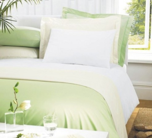 Luxury Percale Polycotton Pillowcases by Greens of Bournemouth