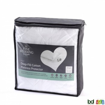 Pure Cotton Mattress Protectors by Fine Bedding Company