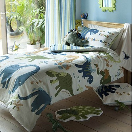 Dino Duvet Cover Set By Catherine Lansfield | Dinosuar Bedding and Curtains