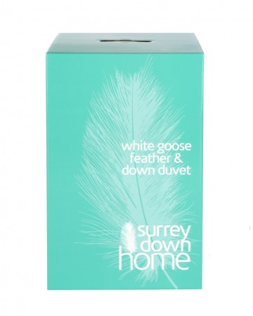 White Goose Feather and Down Duvet by Surrey Down