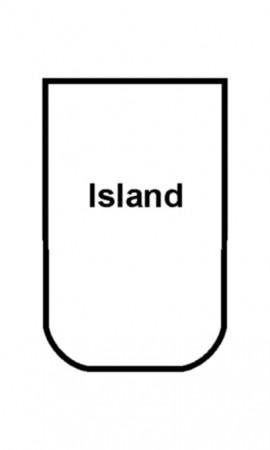 Swift Caravan Island shaped Bed