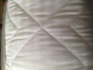 Caravan Bedding - Island Bed Premium Satin Stripe. Coachman Caravan Bedding