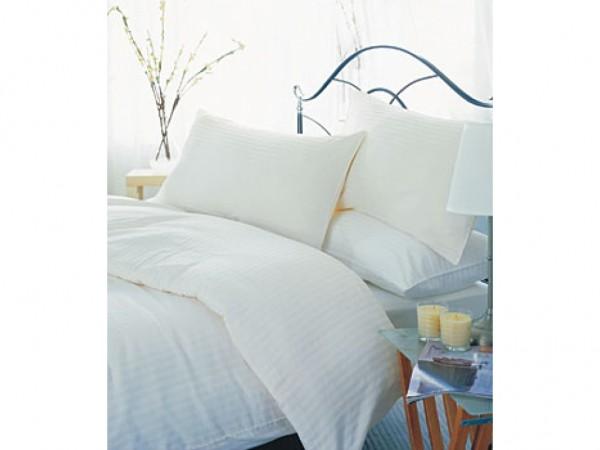 Belledorm 550 Thread Count Satin Stripe Egyptian Cotton Pillowcases
