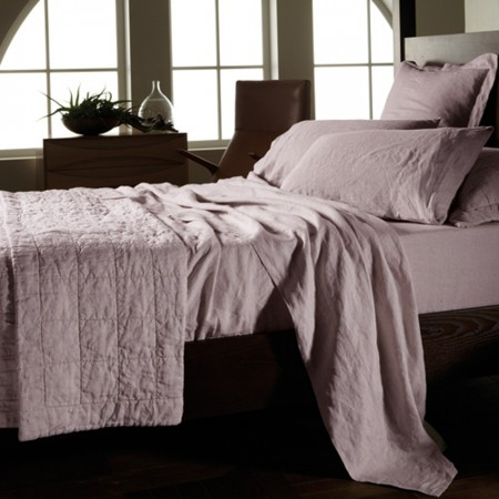 Sheridan Abbotson Lilac Duvet Cover, Fitted Sheets,Flat Sheet, Pillowcases and Bedcover. 100% Linen Bedlinen