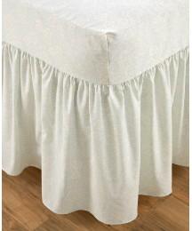 Poly Cotton Fitted Valance Sheets King Size Latte Frilled Valance Sheet Kingsize