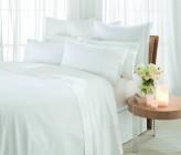 Sheridan 1000 Thread Count Luxury Cotton Sateen Flat Sheet, Snow